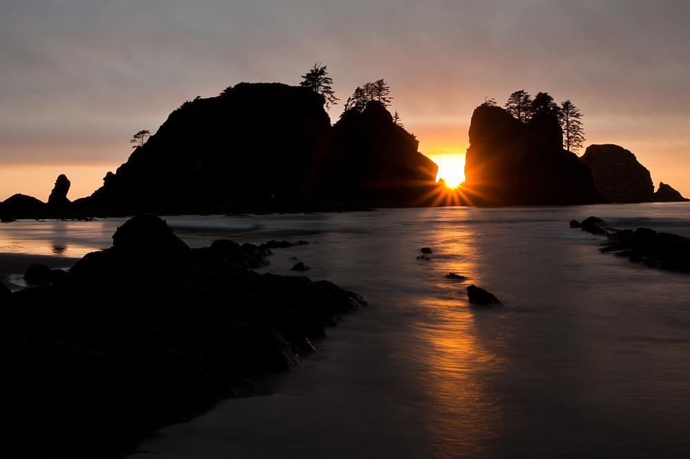 Photo in Landscape #shi shi beach #olympic national park #sunset