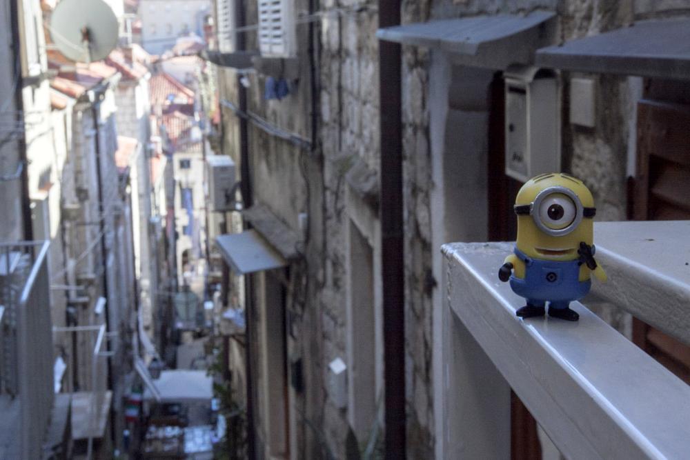 Photo in Travel #minion #dubrovnik #street #depth #fun