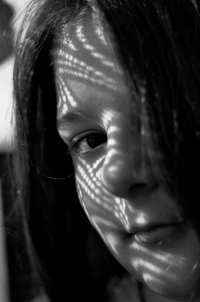 Photo in Black and White #black and white #shadows #portrait