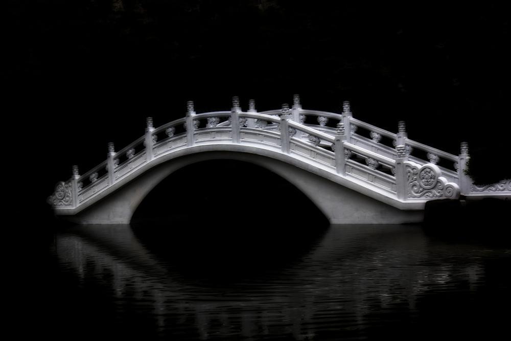 Photo in HDRI #taiwan #bridge #dreamy #hdr #black #white #b/w