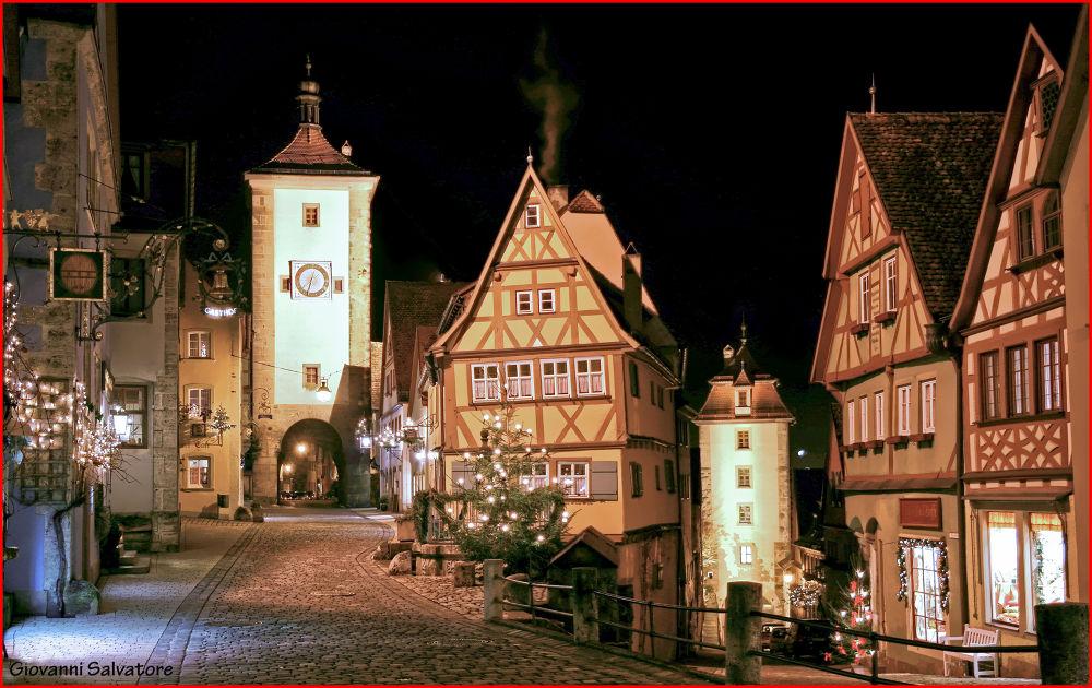 Photo in Random #christmas #night #germany #fairytale #rothenburg