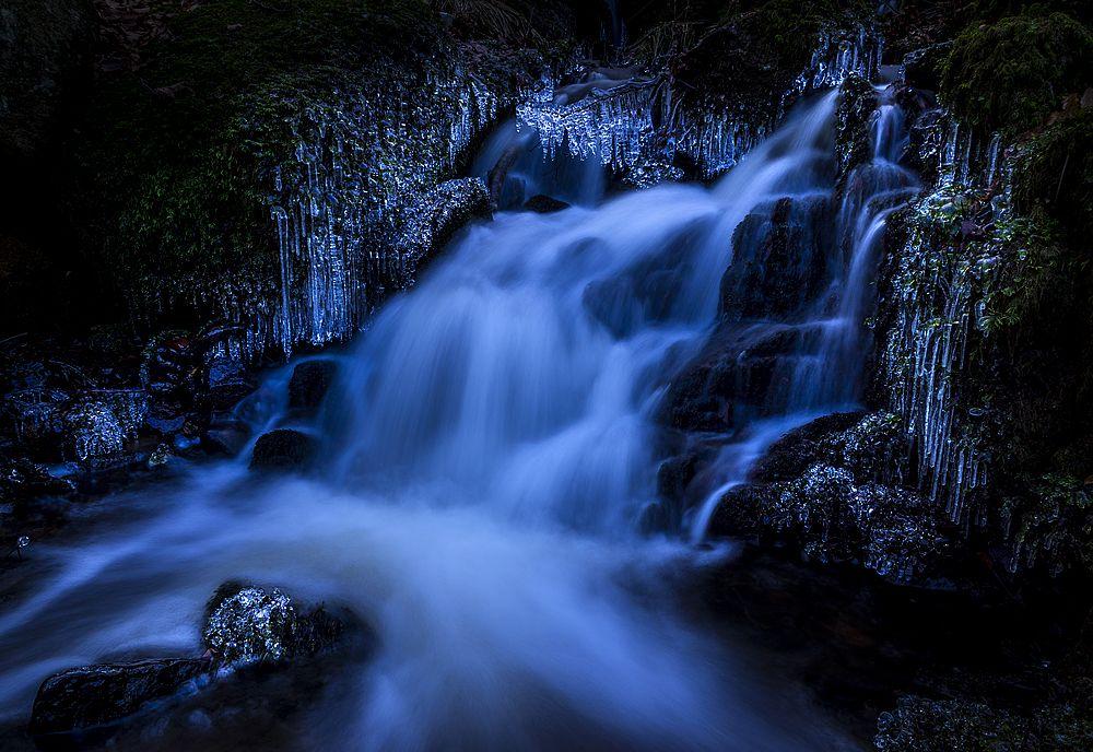 Photo in Nature #sweden #halland #nature #winter #ice #creek #flow #water