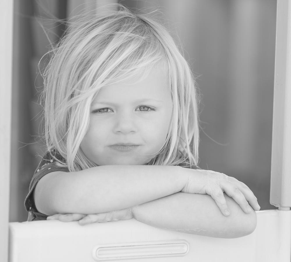 Photo in Black and White #summer #portrait #nikkon #70-200mm 2.8 nikkor #70-200mm #d800 #nikon d800 #little girl #black and white