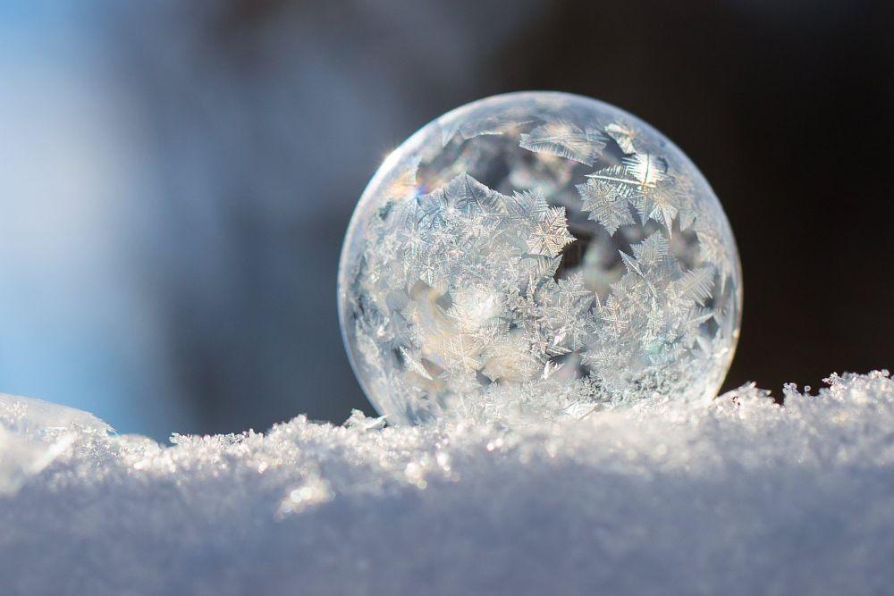 Photo in Random #cold #frozen #winter #snow #bubble