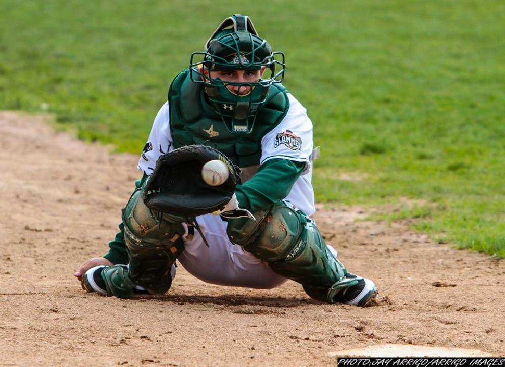 Photo in Sports #sports #baseball #catcher #ball #bat