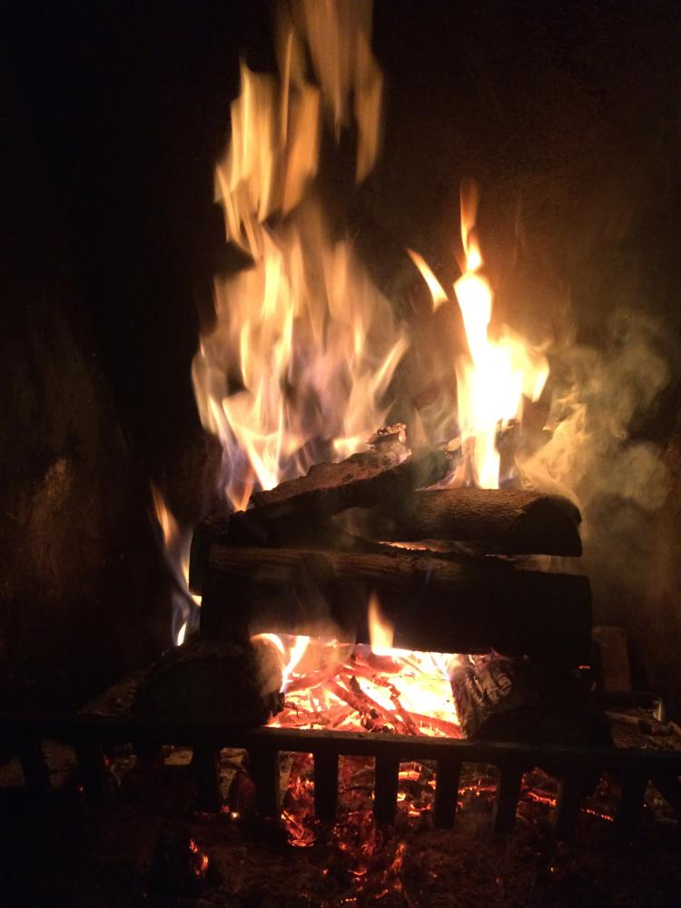 Photo in Interior #fireplace #hot #flames