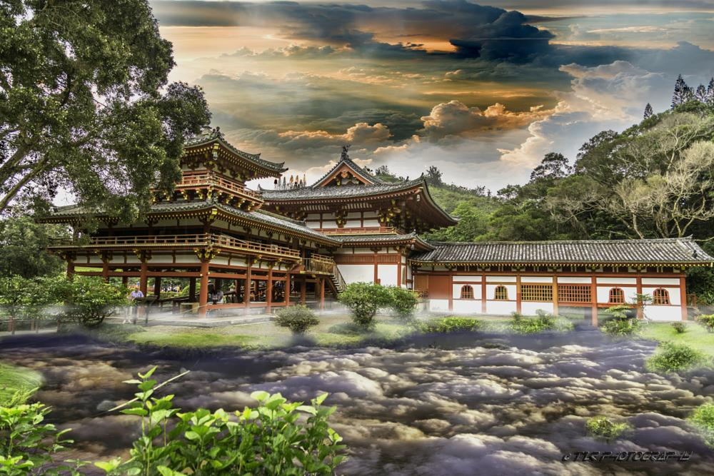 Photo in Landscape #tzr photography #temple #temple amongst the clouds #clouds #canon 5d mark iii #canon #landscape