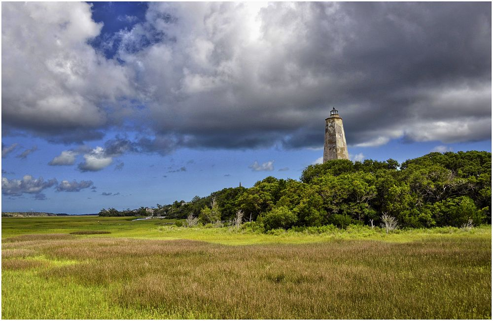 Photo in Sea and Sand #bald head island #coastal #lighthouse #old baldy