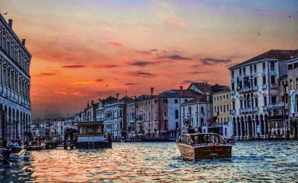Photo in Travel #venice #grand canal #sunset