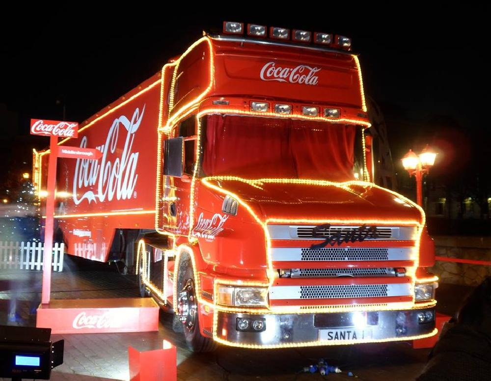 Photo in Vehicle #cocacola #truck #christmas