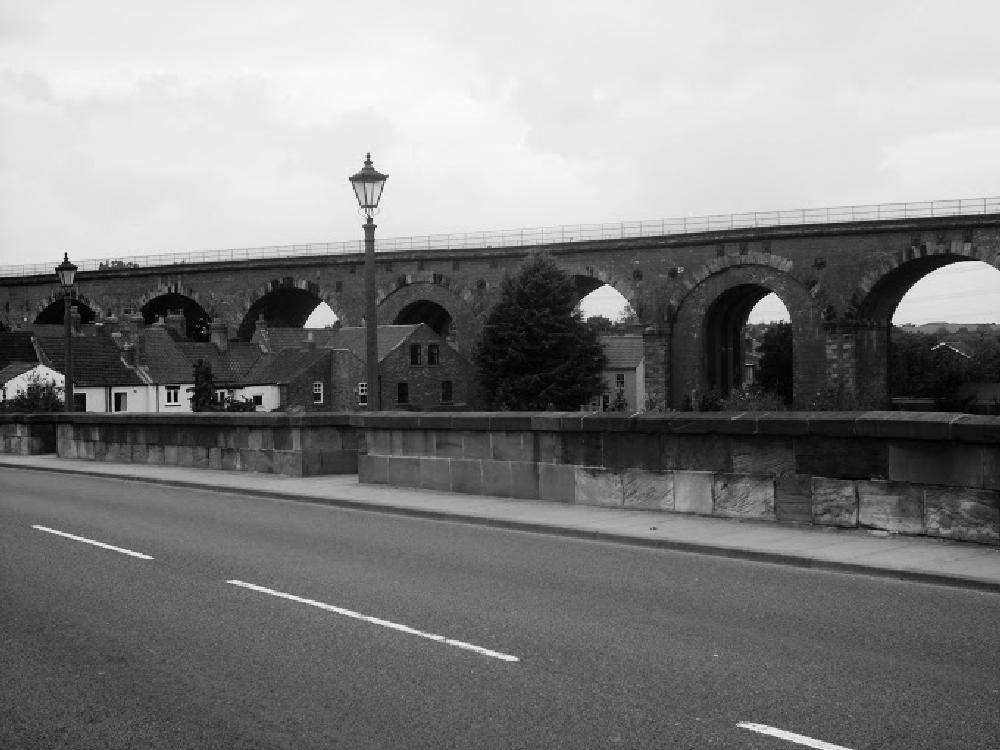 Photo in Black and White #bridges #railway #black and white