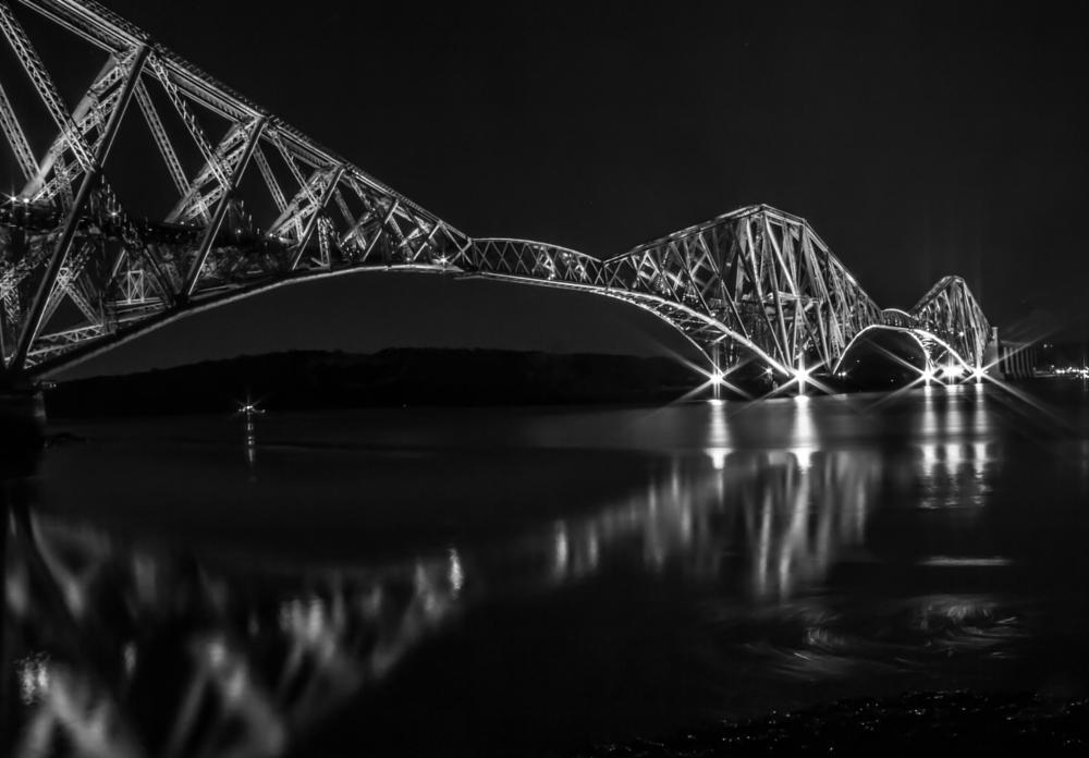 Photo in Architecture #long exposure #bridge #architecture #water #night #lights