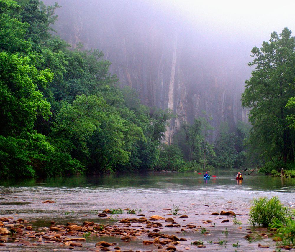 Photo in Random #river #kayak #fog #sony alpha #vintage minolta