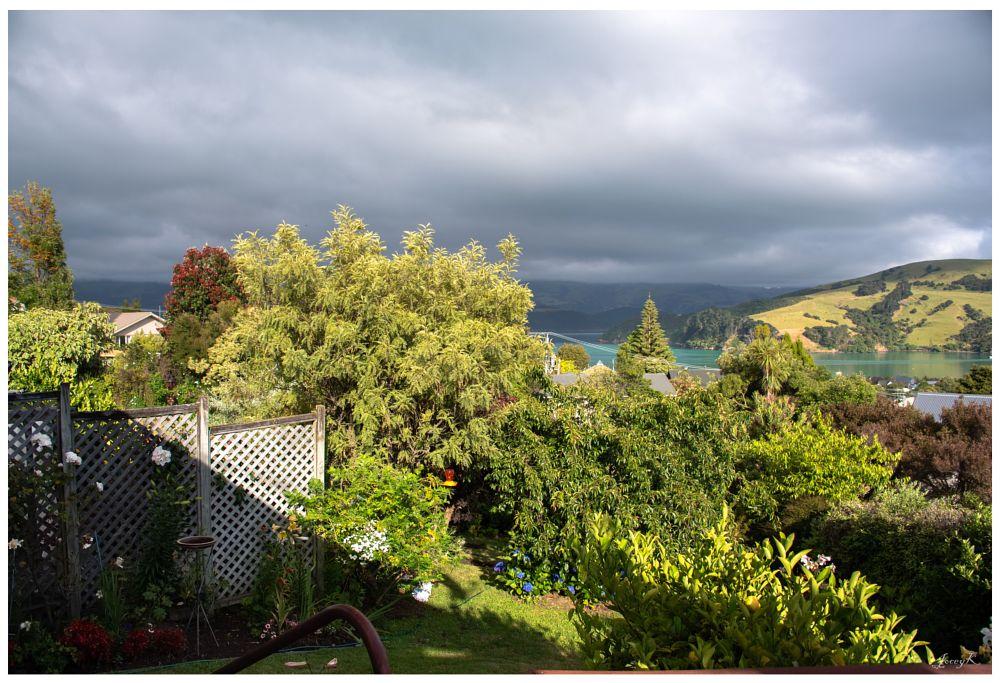Photo in Landscape #scene #clouds #garden #hills #sea #new zealand #akaroa
