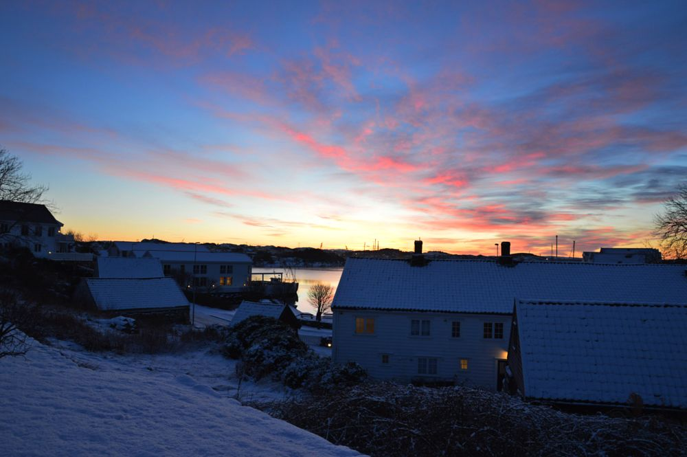 Photo in Landscape #winter #morning #house #harbour #snow