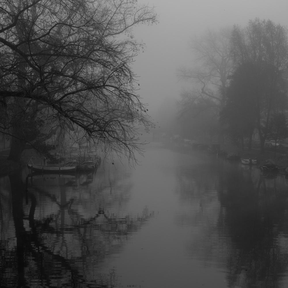 Photo in Cityscape #amsterdam #fog #blackandwhite