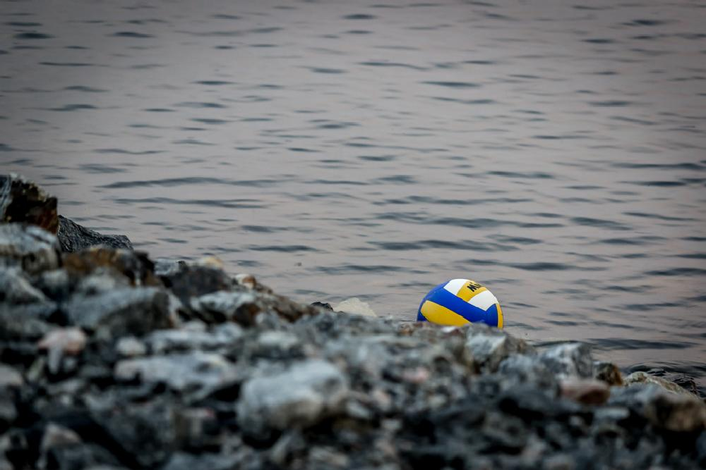 Photo in Random #volleyball #rocks #water