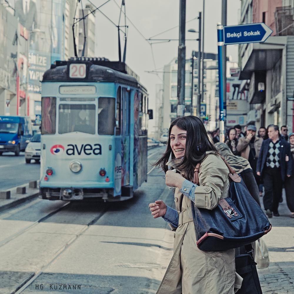 Photo in Street Photography #ara güler #estambul #istambul #tram #streetphotography #istanbul #turkey #turquía #kadikoy