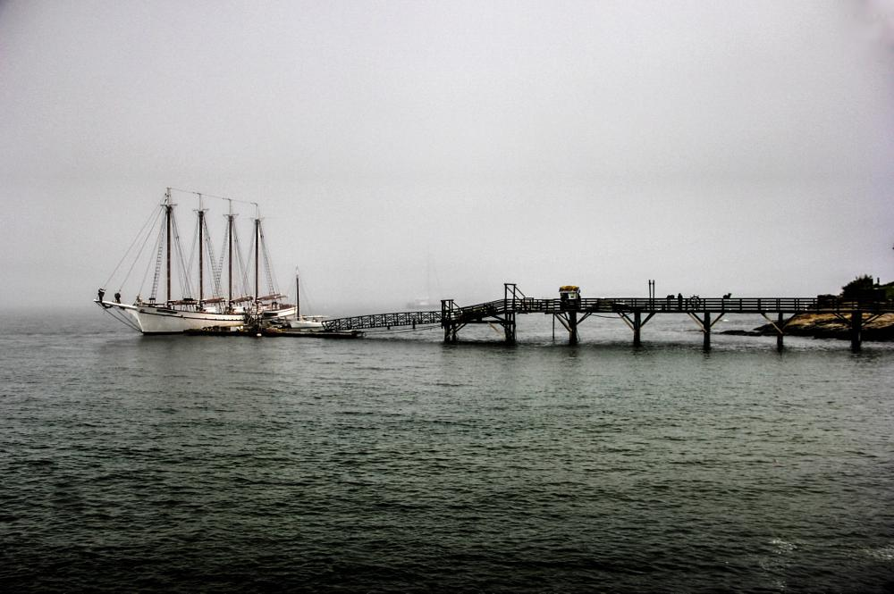 Photo in Random #schooner #ship #boat #bar harbor #maine #pier