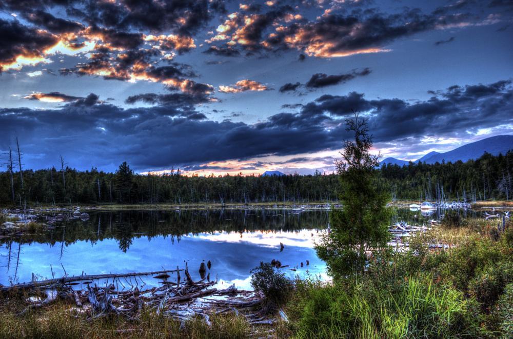 Photo in Random #dusk #sunset #maine #baxter state park