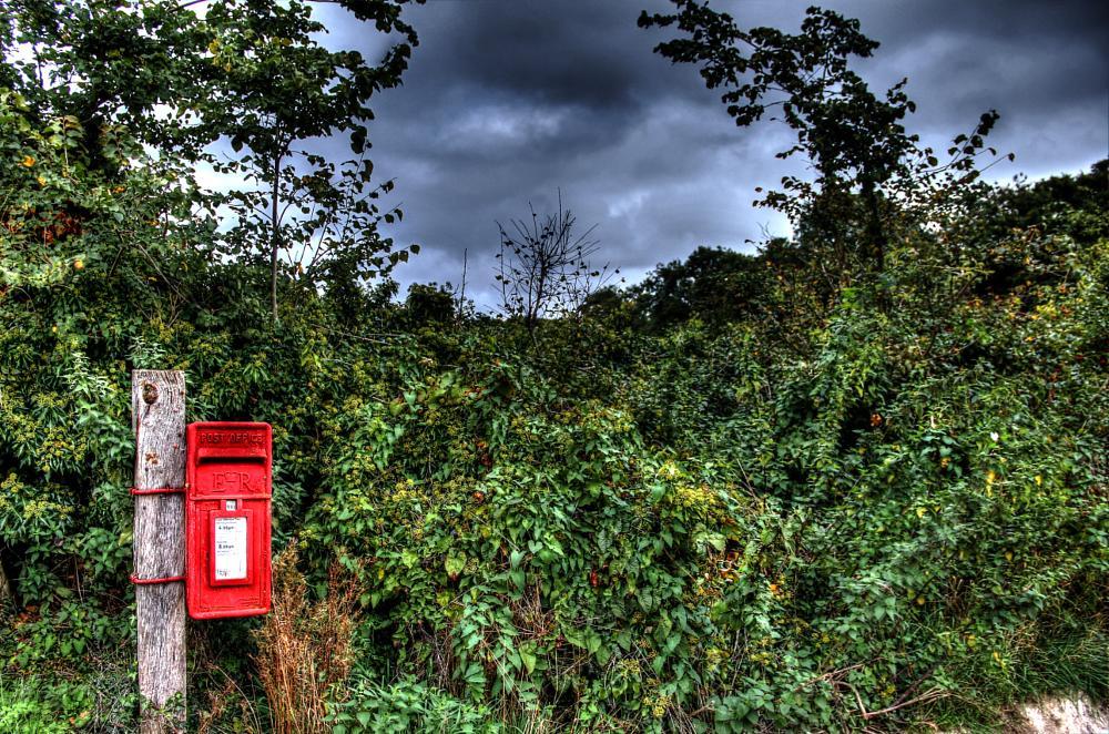 Photo in Random #post box #mail #england #rural #looming