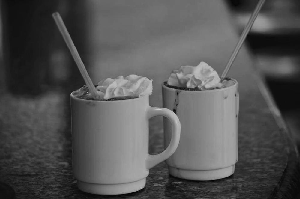 Photo in Black and White #hot chocolate #onthecruise #tasty