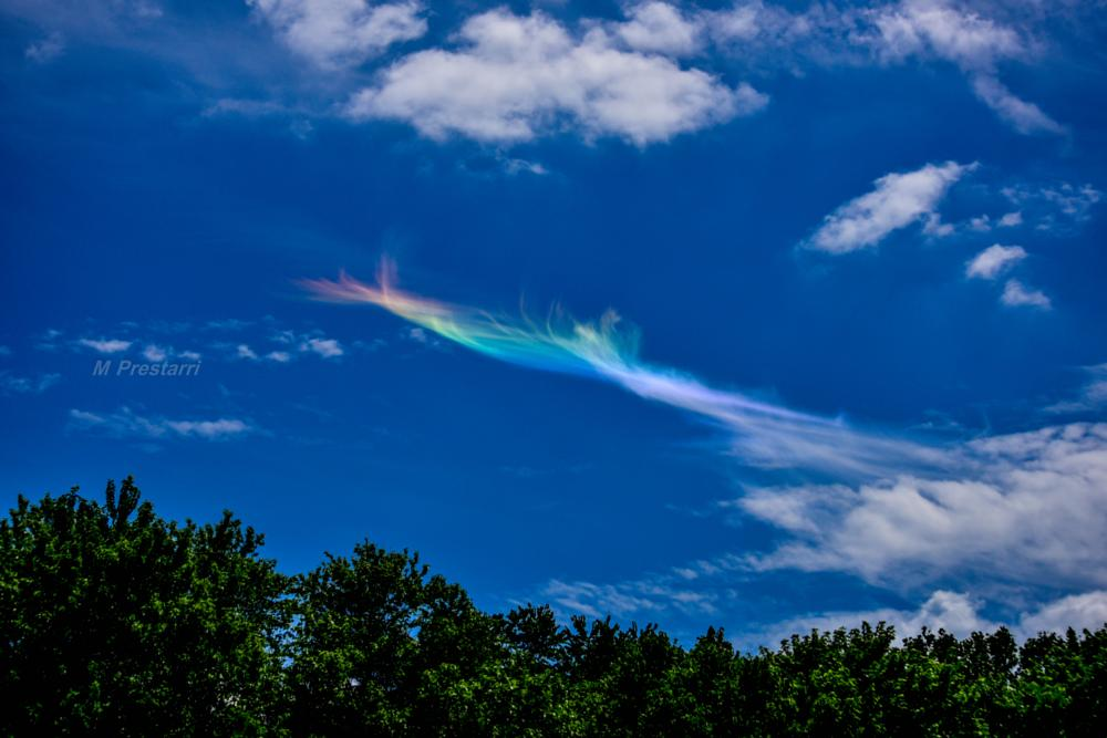 Photo in Nature #weather #clouds #iridescentcloud