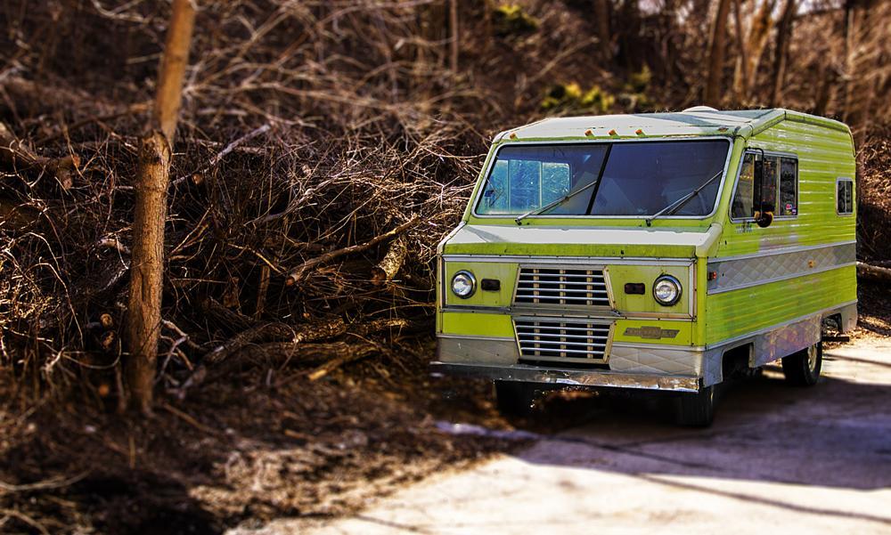 Photo in Street Photography #old truck #milwaukee #camper #vintage #tilt shift