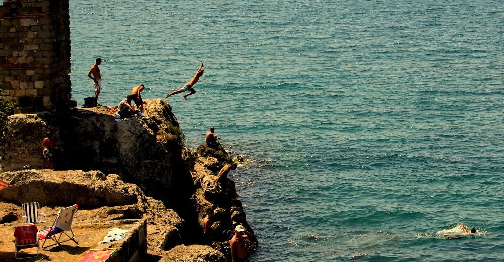 Photo in Random #sea #jump