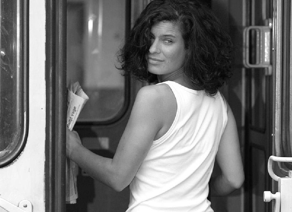 Photo in Portrait #black white #woman #railway station #portrait #jan degen