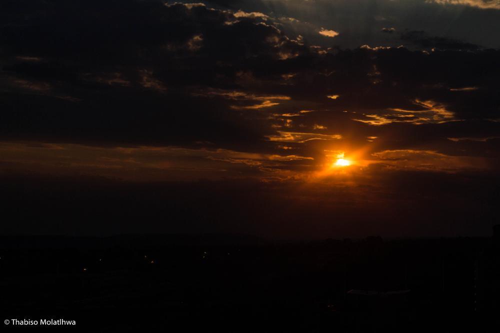 Photo in Landscape #sunset #clouds #goldensky #evening #nature #landscape