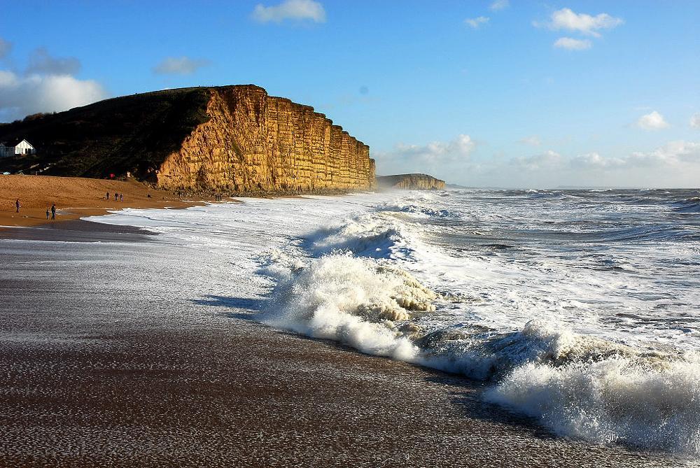 Photo in Sea and Sand #dorset #burtonbradstock #cliffs