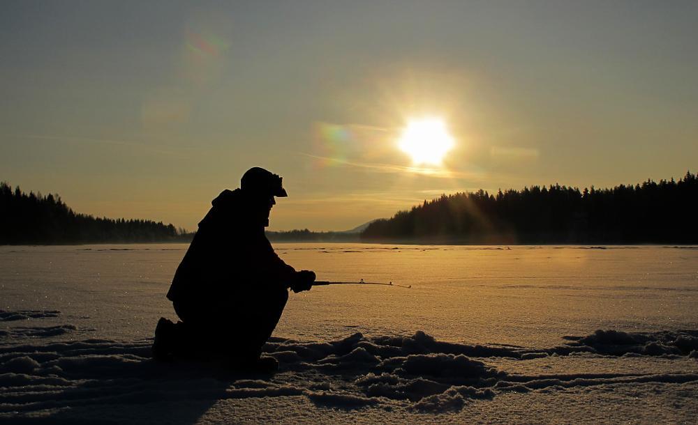 Photo in Nature #river #snow #ice #ice fishing #swedish lapland #fishing