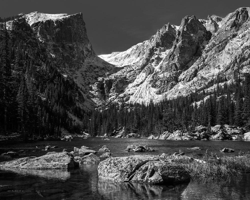 Photo in Landscape #mountains #b&w #rocky mountain national park #colorado #hallett peak #dream lake