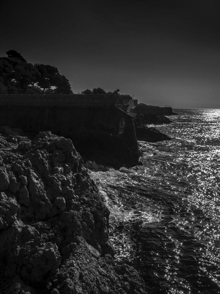 Photo in Sea and Sand #antibes #sea shore #mediterranean #cote d'azur #cap d'antibes