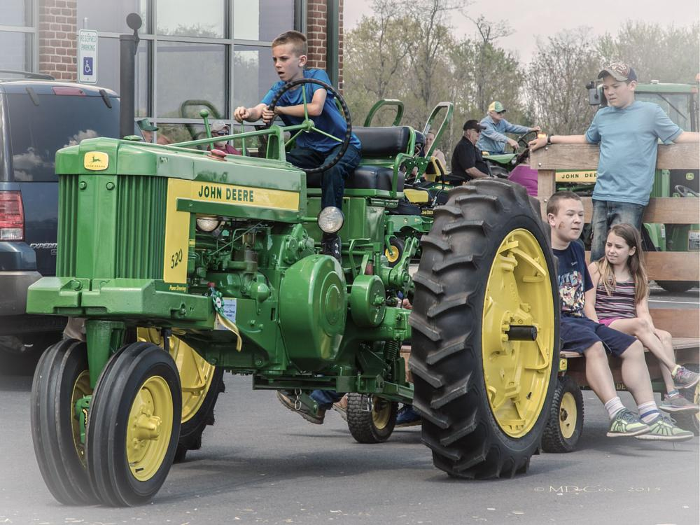 Photo in People #people #boy #tractor #john deere #farm tractor #vehicle #farm equipment