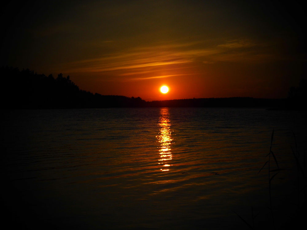 Photo in Landscape #lake #midnight #sun #summer #finland