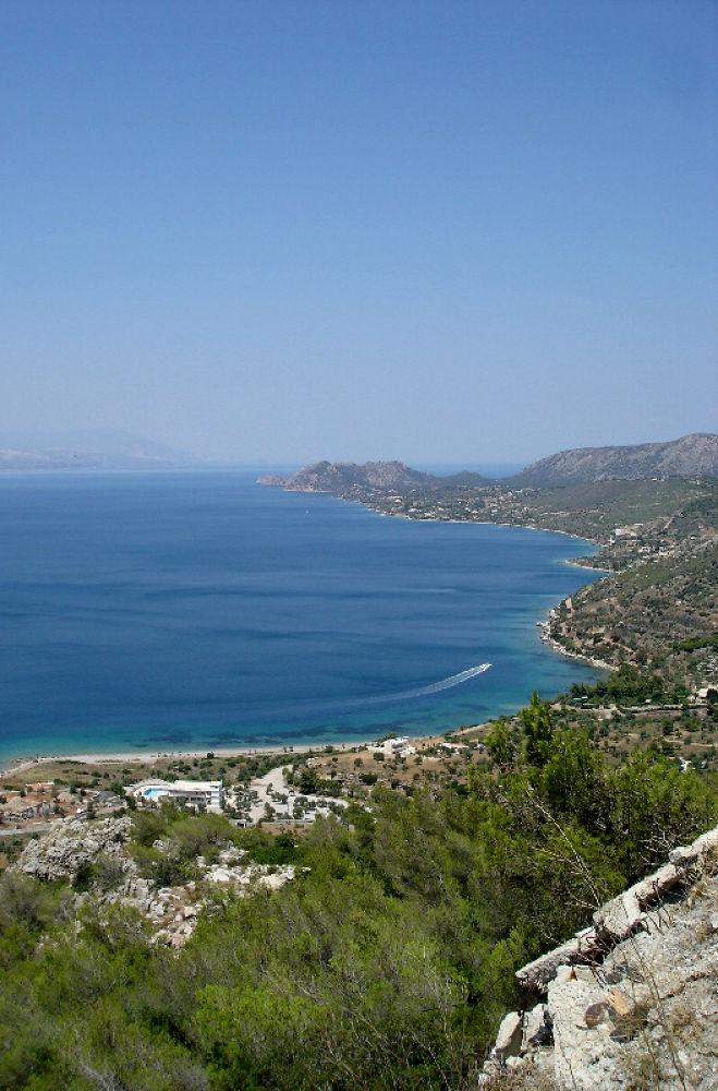 Photo in Landscape #monastery #sea #greece