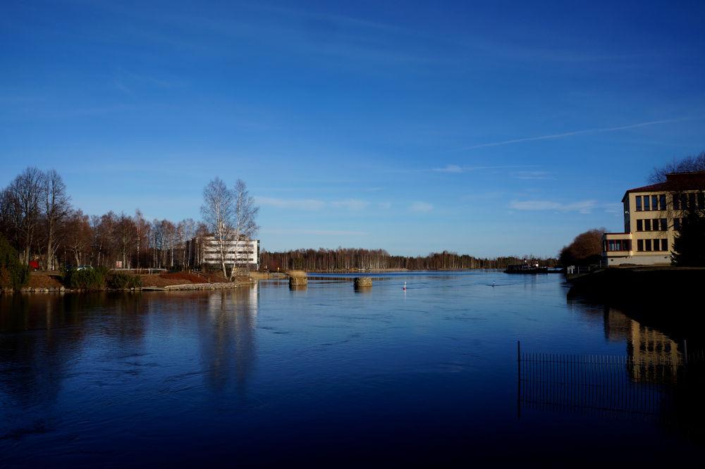 Photo in Cityscape #river #sky #march #finland #blue