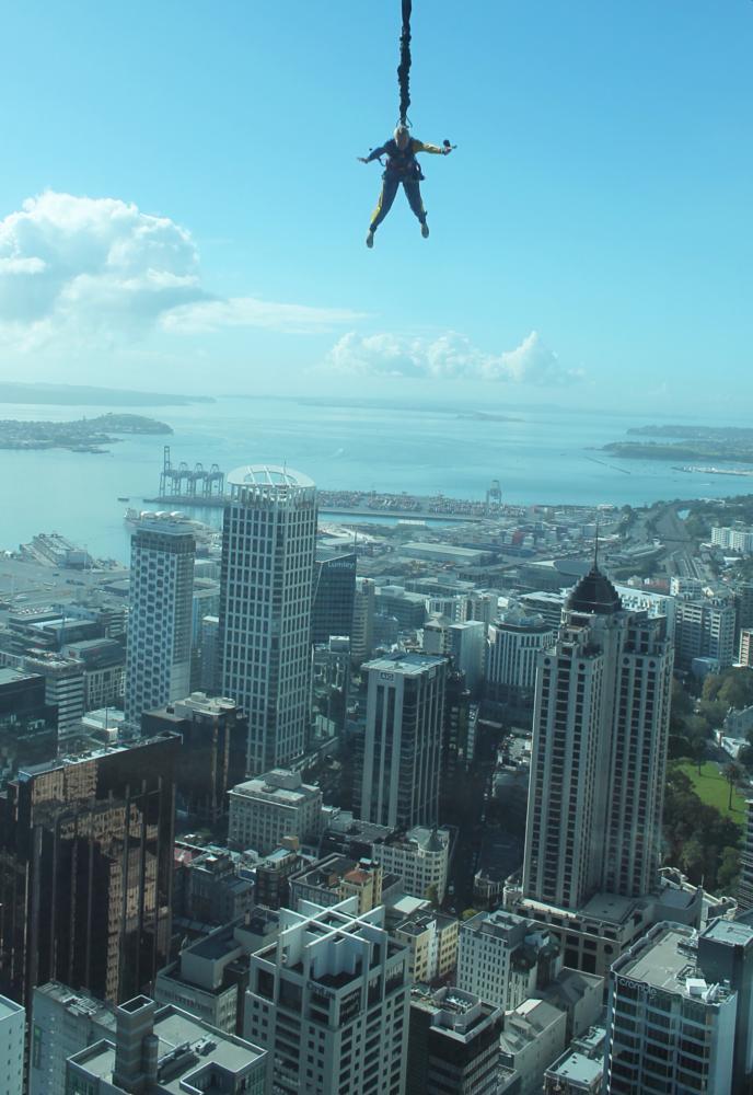 Photo in Cityscape #skycity #auckland #skyjump #cityscape #new zealand #leap of faith