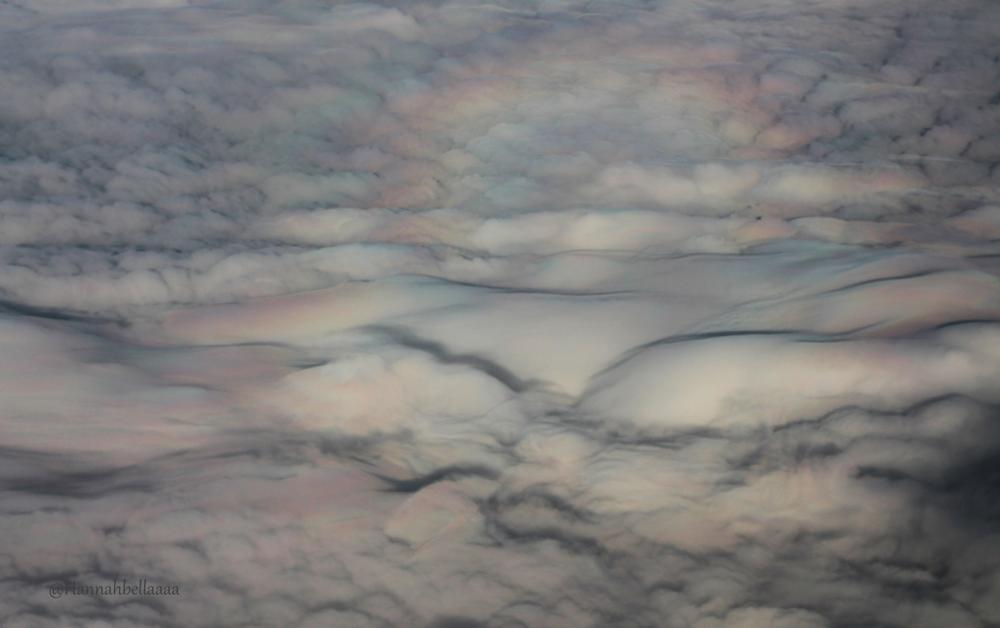 Photo in Random #rainbow #from #above #glory #rainbow clouds #from plane