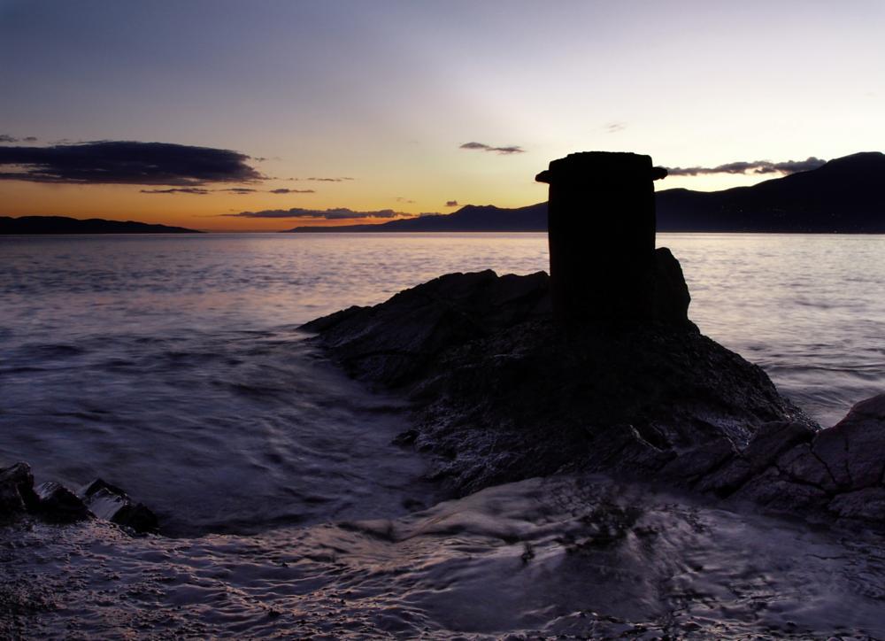 Photo in Sea and Sand #bollard #seascape #adriatic #kvarner #lightzone