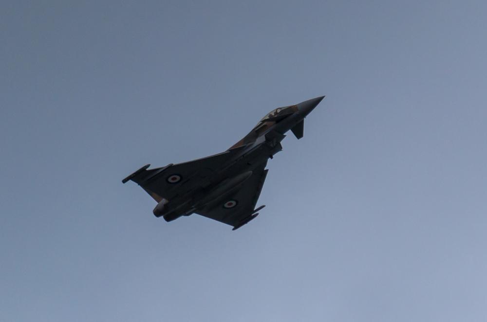 Photo in Random #typhoon #airshow #air #plane #aircraft #fighter #nikon #d3100 #swansea