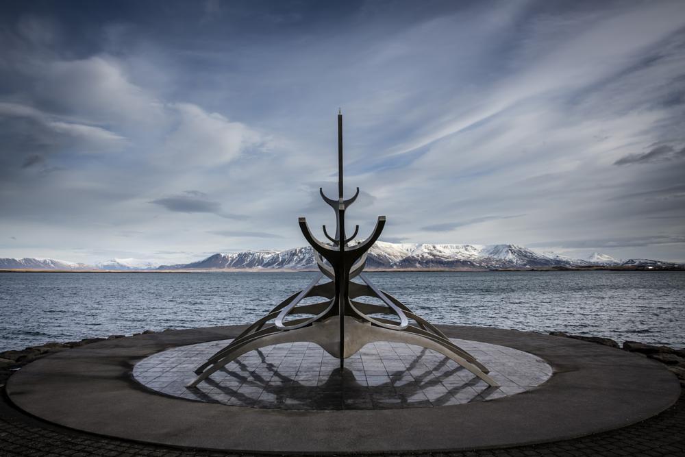 Photo in Landscape #solfar #sun #voyager #iceland #reykjavik #canon #5d