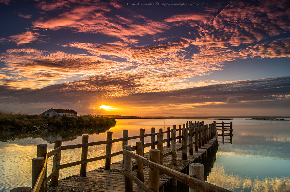 Photo in Landscape #clouds #portugal #sky #water #sunset #sunrise #colors #alone