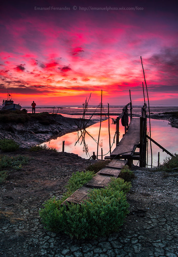 Photo in Landscape #clouds #sunrise #sunset #portugal #setubal #sky