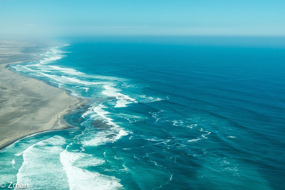 Photo in Landscape #skeleton #coast #atlantic #ocean #namibia #workshop #aerial shot