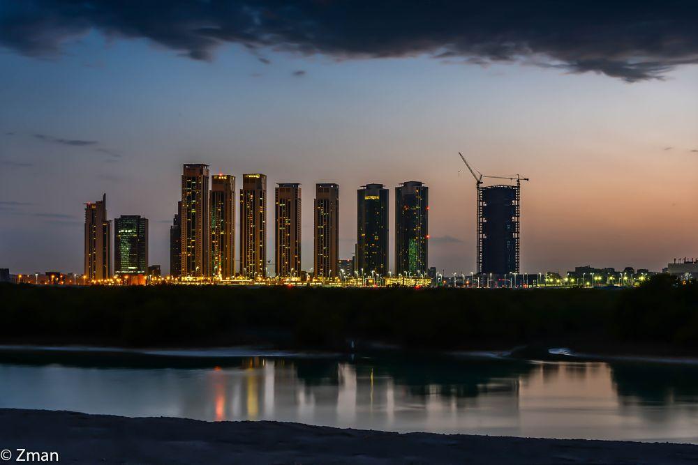 Photo in Landscape #reem #island #sorouh #developments #night shots