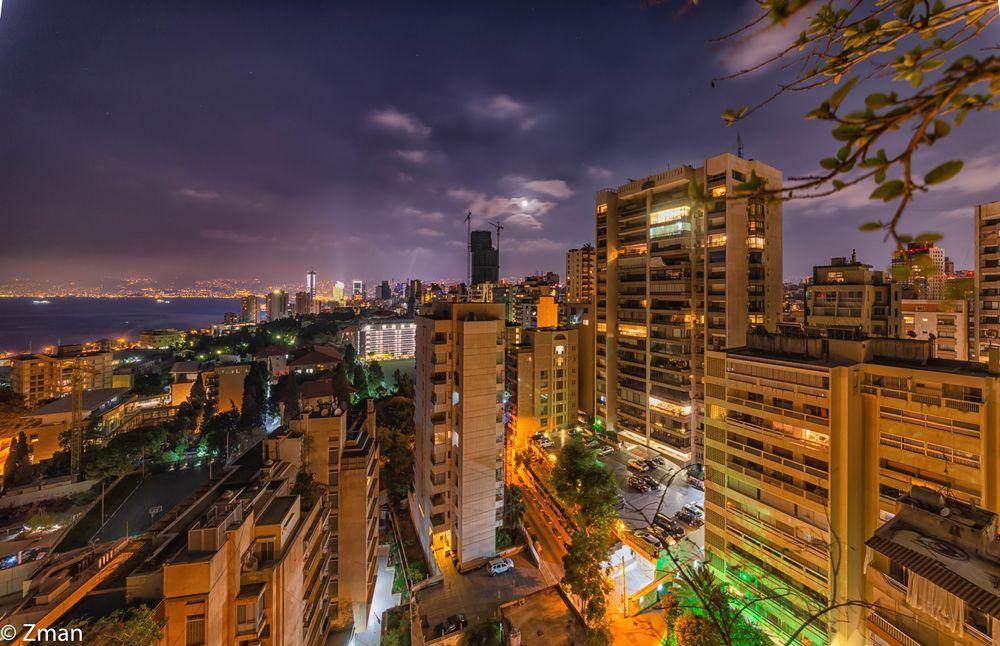 Photo in Cityscape #al mada flat #beirut #night shots #sigma 12-24