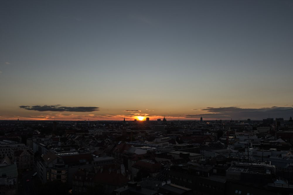 Photo in Cityscape #sunset #munich #germany